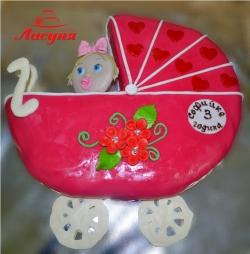 #д160(25) торт детская коляска