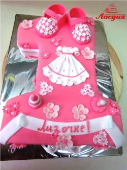 #д160(46) детский торт на 1 годик для девочки