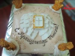 #д200(16) детский торт на крестины