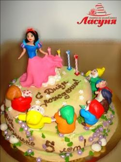 #д200(17) детский торт Белоснежка и 7 гномов