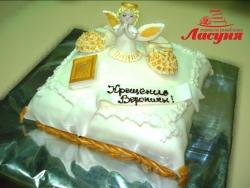 #д200(10) детский торт на крестины
