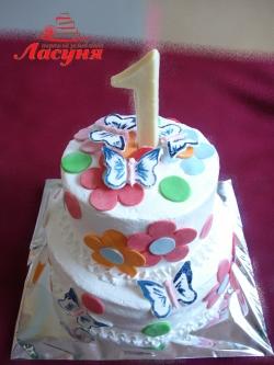 #д115(11) детский торт на 1 годик