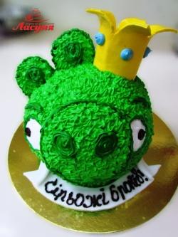 #д115(72) торт Злые Птички Свинья Angry Birds