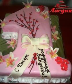 #д140(10) торт для девочки на 1 годик