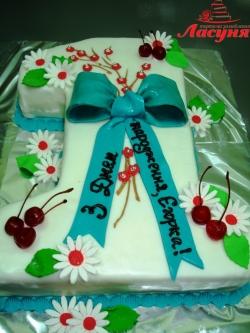 #д140(11) детский торт на 1 годик для мальчика