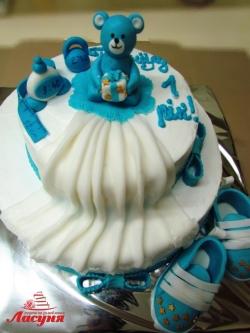 #д140(22) торт на 1 годик для мальчика