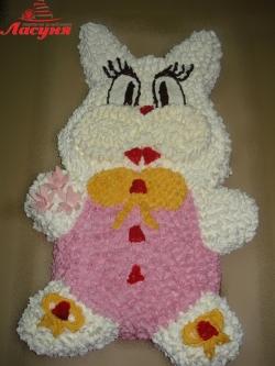 #д95(2) детский торт Зайчик