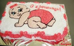 #д95(76) торт на крещение для девочки