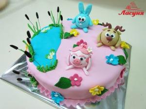 #п180(42) детский торт Смешарики