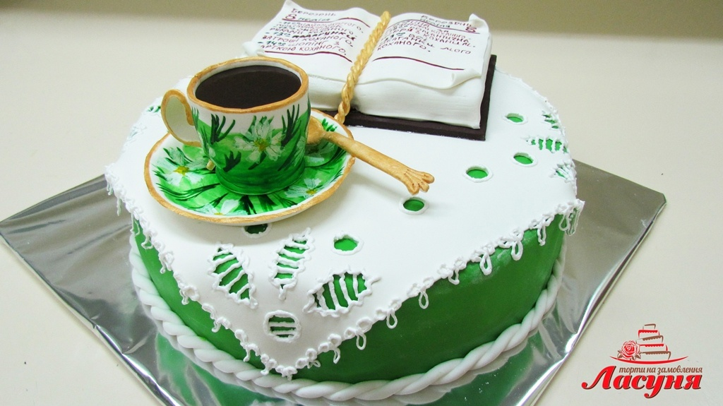 #п220(7) торт на 8 марта для девушки Кофе в постель и список ее желаний