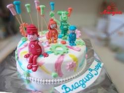 #д180(44) Детский торт Фиксики с фигурками