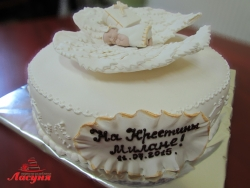 #д200(24) детский торт на крестины Малыш Ангел