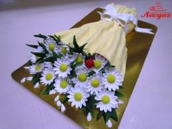 #п150(9) торт букет ромашек