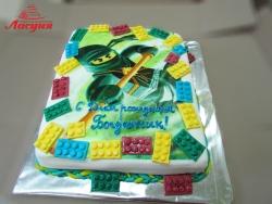 #д160(61) фото торт Лего Ниндзяго (lego ninjago)