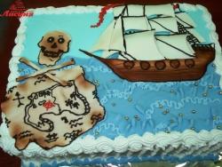 #д105 (12) торт пираты карта сокровищ