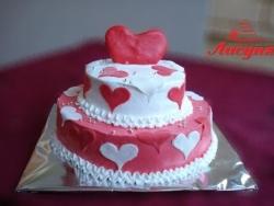 #д115(12) торт с сердечками