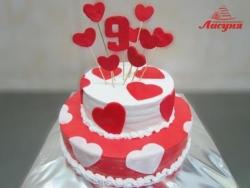 #д115(13) торт на 9 лет