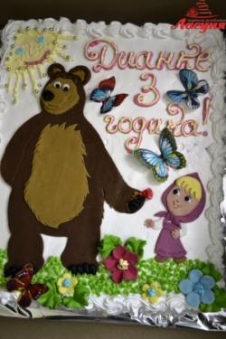 #д115(14) торт Маша и Медведь