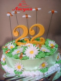 #д115(20) торт пчёлки