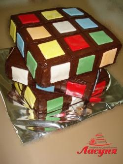 #д115(22) торт Кубик Рубика