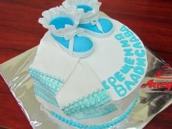 #д115(3) торт на крещение для мальчика
