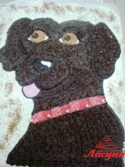 #д115(35) торт собачка