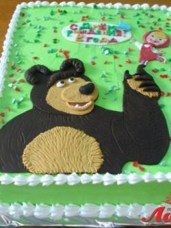 #д115(37) торт Маша и Медведь