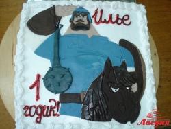 #д115(58) торт Богатырь Илья Муромец