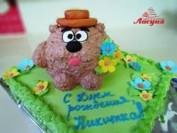 #д115(70) торт Смешарики медведь Копатыч
