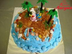 #д115(79) торт остров с зайчатами