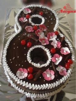 #д115(8) торт на 8 марта