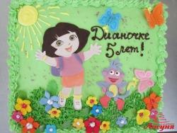 #д115(89) торт Даша Путешественница Dora the Explorer
