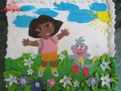 #д115(90) торт Даша Путешественница Dora the Explorer
