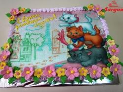 #д130(3) фото торт Котята