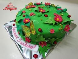 #д140(16) торт летняя полянка