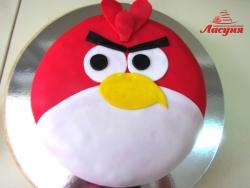 #д140(18) торт Злые Птички Angry Birds