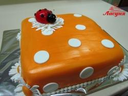 #д140(20) торт божья коровка на ромашке