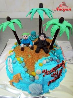 #д140(21) торт Остров Сокровищ