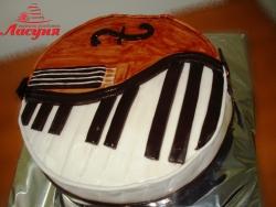 #д140(30) торт для музыканта