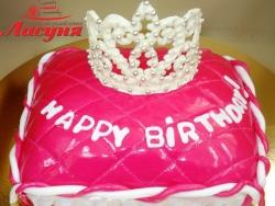 #д140(36) торт для девочки Корона