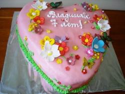 #д140(37) торт сердце с цветами