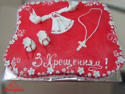 #д140(40) торт на хрещення