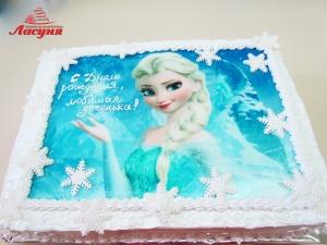 #д140(51) фото торт Эльза Холодное Сердце