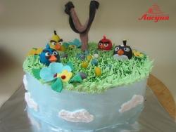 #д140(6) торт злые птички Angry Birds