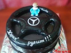 #д150(14) торт для водителя Руль