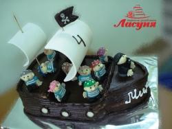#д150(18) торт Пиратский корабль