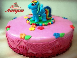 #д150(23) торт Пони Радуга