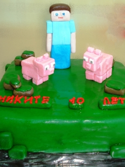 #д150(26) торт Майнкрафт Minecraft