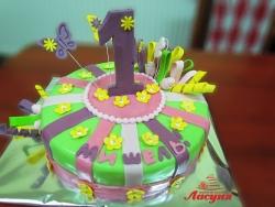 #д150(33) торт на 1 годик
