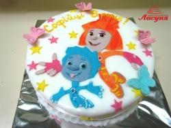 #д150(34) торт Фиксики Симка и Нолик